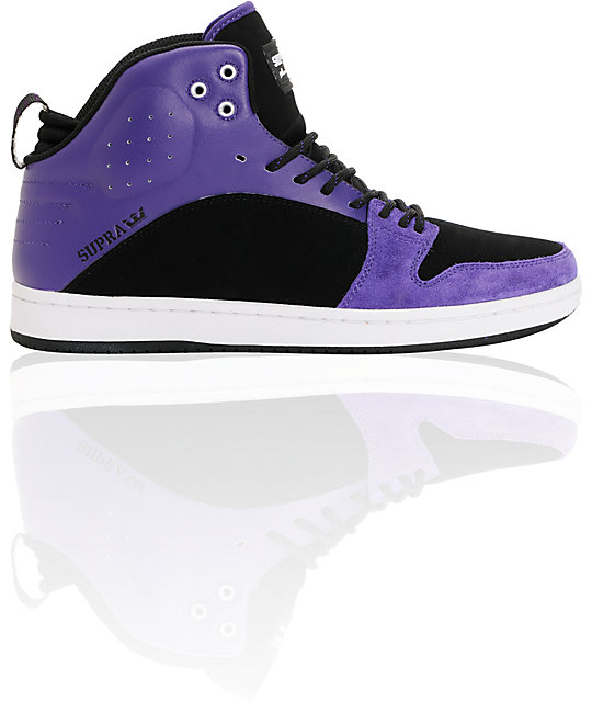 Supra S1W Stevie Williams Purple & Black Mid Top Shoes