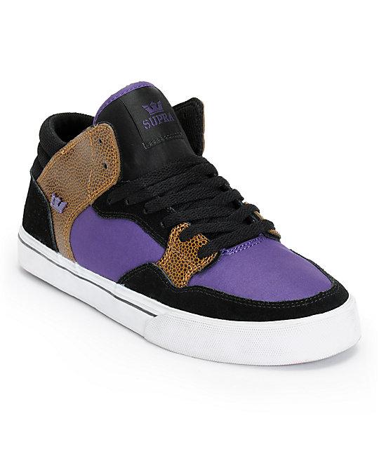 Supra Shotgun Keelan Black, Purple, & Snake Skate Shoes