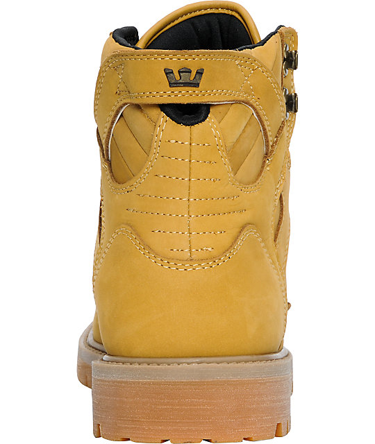 Supra Skyboot Wheat Leather & Gum Boot