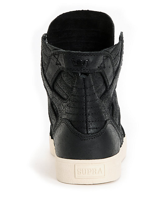 Supra Skymoc Black Leather Shoes