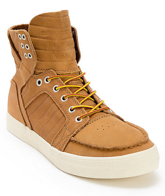 Supra Skymoc Light Brown Leather Shoes