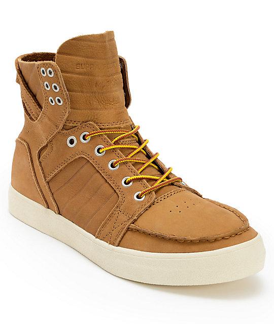 Supra Skymoc Light Brown Leather Shoes