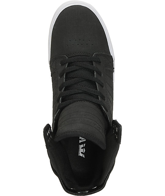 Supra Skytop Black Gunny TUF Canvas Skate Shoes