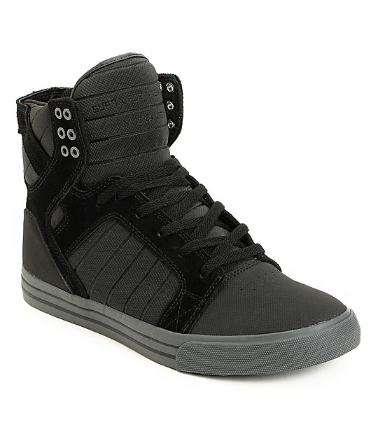 Supra Skytop Black TUF & Grey Skate Shoes