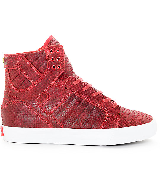 Supra Skytop Cardinal Embossed Skate Shoes