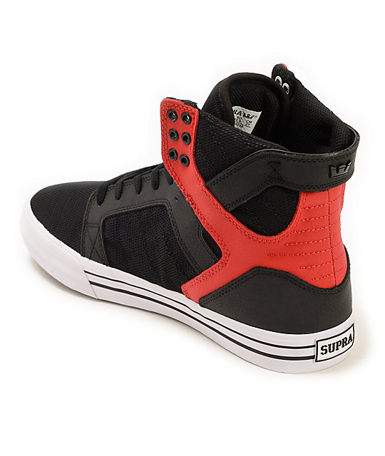Supra Skytop Duo Mesh & Pebbled Skate Shoes