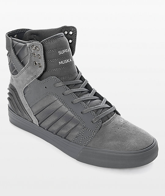 Supra Skytop EVO All Grey Suede & Lycra Skate Shoes