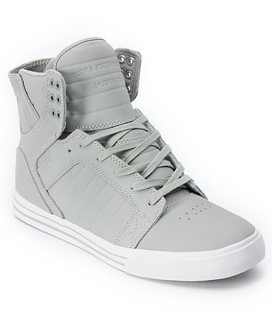 Supra Skytop Grey Express TUF Canvas Skate Shoes