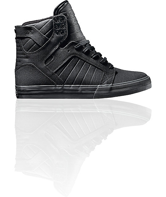 Supra Skytop Gunny Black TUF Skate Shoes