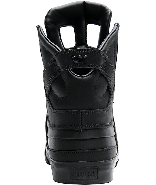 Supra Skytop II Black Satin Tuf Shoes