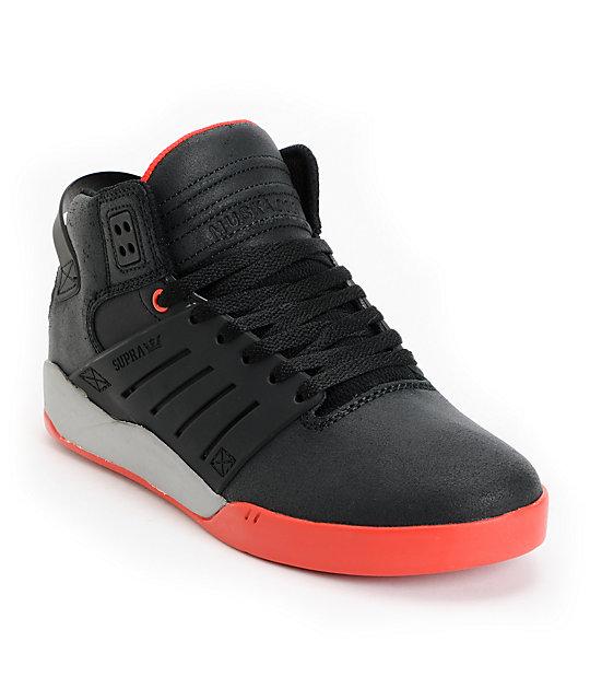 Supra Skytop III Black, Red & Grey Skate Shoes