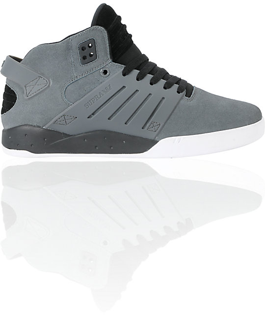 Supra Skytop III Grey Suede & Black Shoes