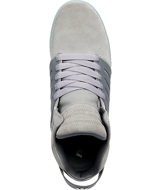 Supra Skytop III Grey Suede & Glacier Blue Shoes