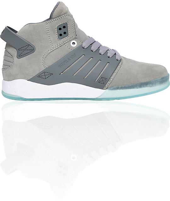 Supra Skytop III Grey Suede & Glacier Blue Shoes
