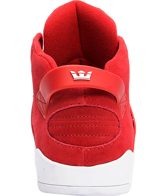 Supra Skytop III Red Suede Shoes
