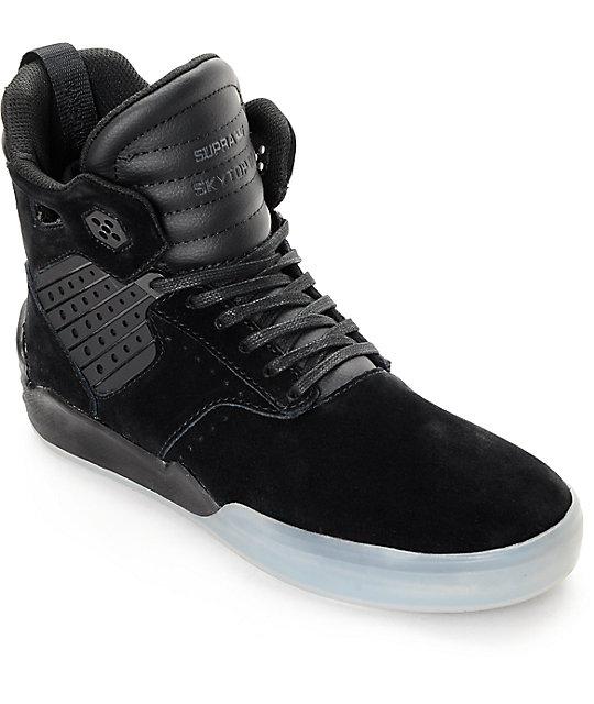 Supra Skytop IV Black Translucent Skate Shoes