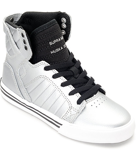 Supra Skytop Metallic Pewter Boys Shoes