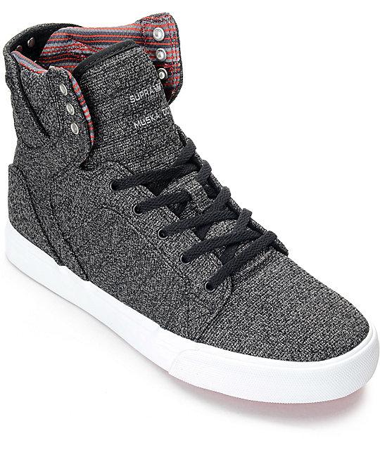 Supra Skytop Microchip Grey Boys Skate Shoes