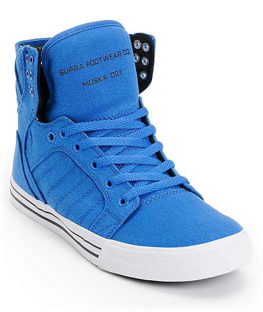 Supra Skytop Royal, Black & White Canvas Skate Shoes