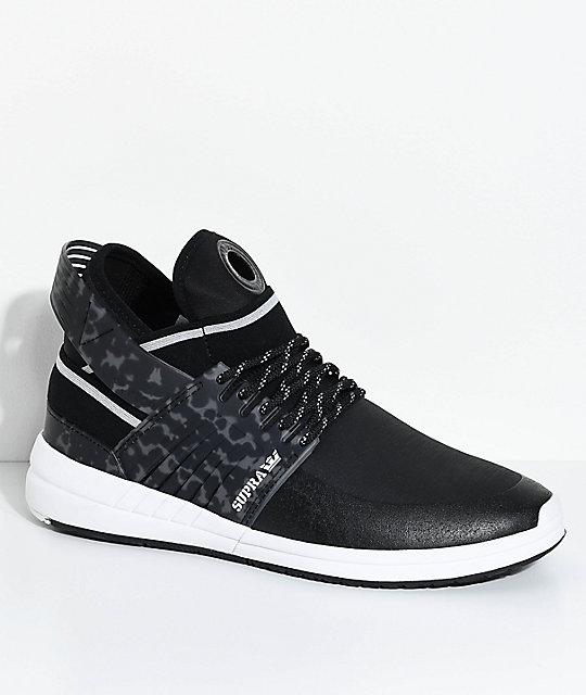 Supra Skytop V Black, Grey & White Skate Shoes