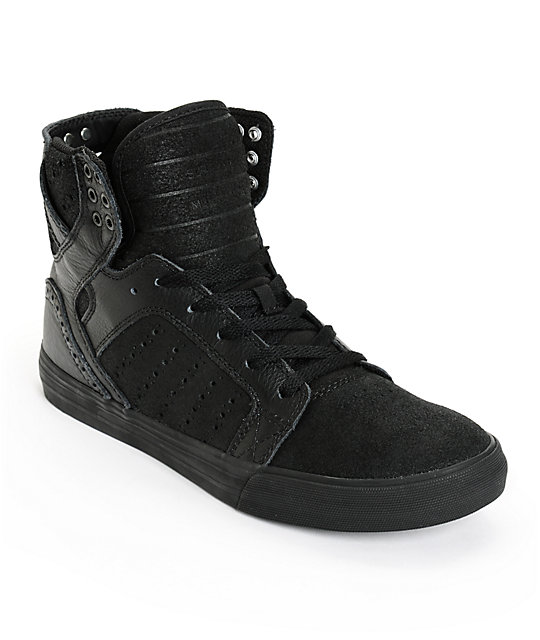 supra skytop waxed leather skate shoes