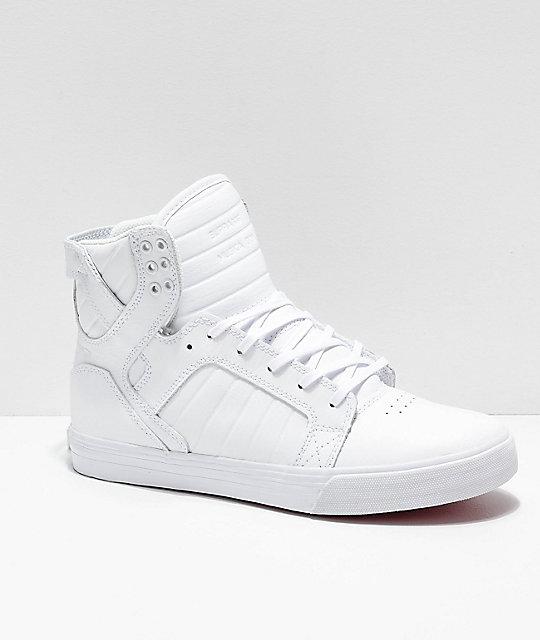 Zapatos Y Supra Skytop De Skate Blancos Rojos Nn0vm8wO