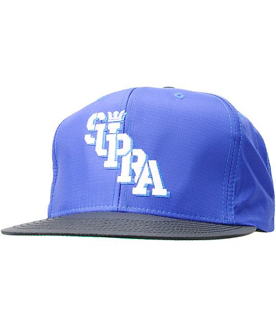 Supra Slant Blue Ripstop Snapback Hat