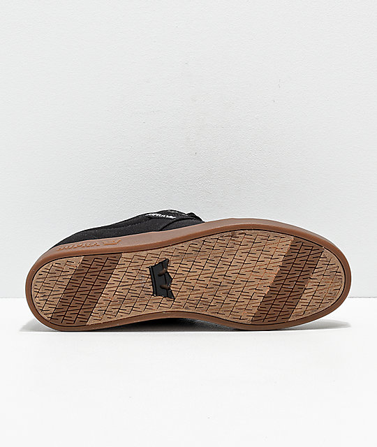 Supra Stacks II Black & Gum Canvas Skate Shoes