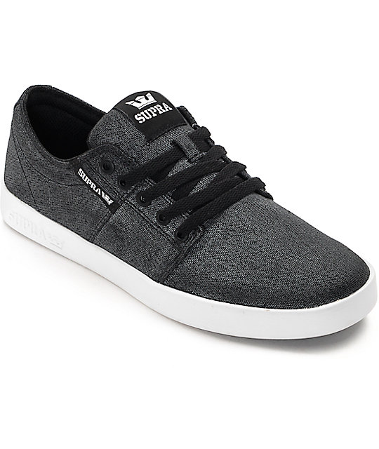 Supra Stacks II Washed Grey Skate Shoes