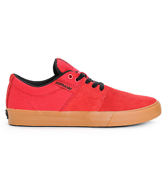 Supra Stacks Vulc II Red Skate Shoes