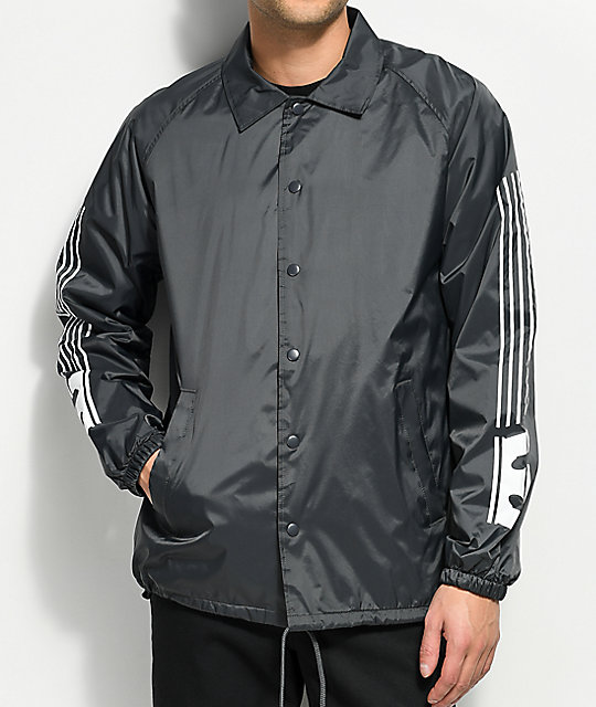 Supra Striped Charcoal Coaches Jacket by Supra