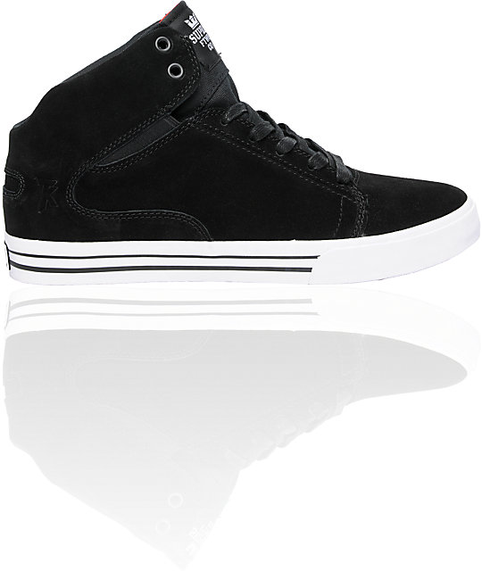 Supra TK Society Mid Black Suede Shoes