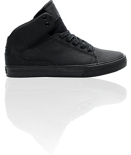 Supra TK Society Mid Gunny Tuf Black Shoes
