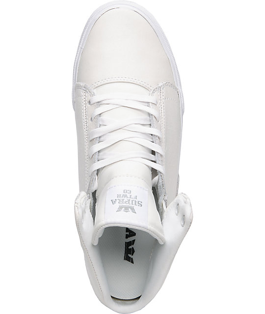 Supra TK Society Mid White Full Grain Shoes
