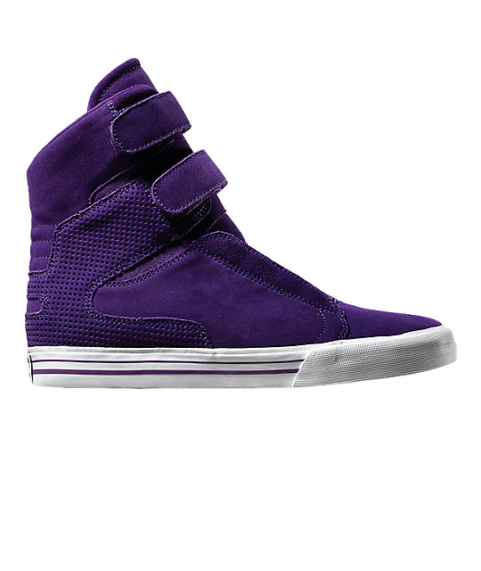Supra TK Society Purple Suede Shoes