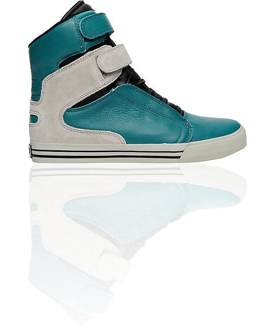 Supra TK Society Teal Steel Suede Shoes