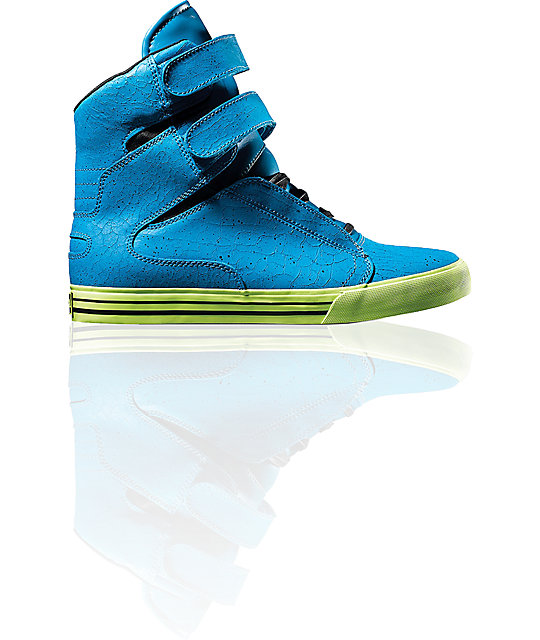 Supra TK Society Tuf Blue Crackle Shoes