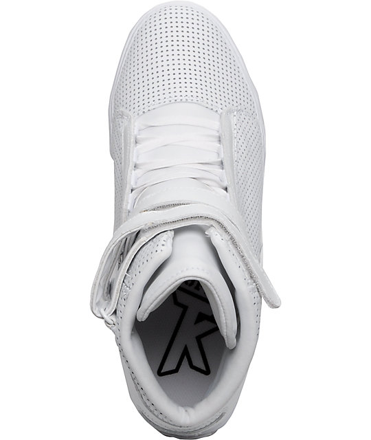 Supra TK Society White Perf Leather Shoes