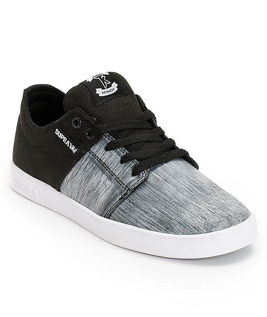 Supra TK Stacks Ballistic Static & Black Skate Shoes