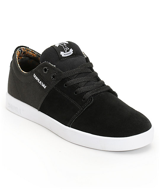 Supra TK Stacks Black & Camo Suede Skate Shoes