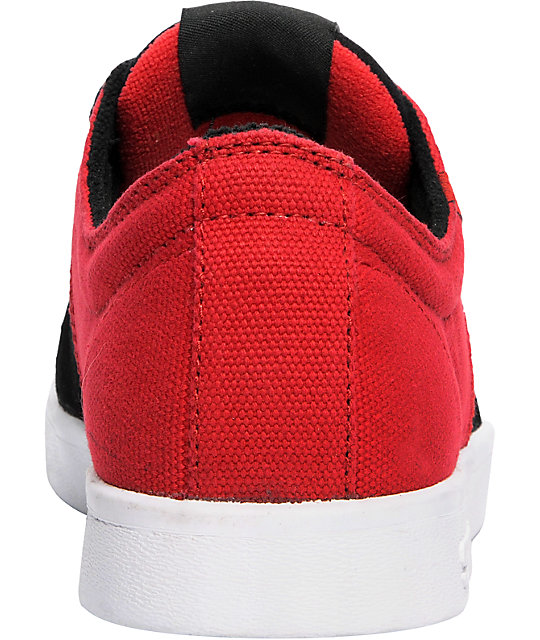 Supra TK Stacks Black Suede & Red Canvas Shoes