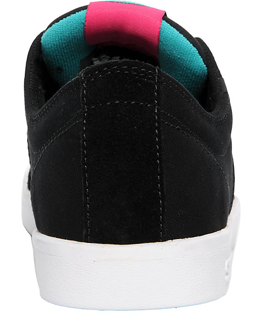Supra TK Stacks Black Suede & Teal Shoes