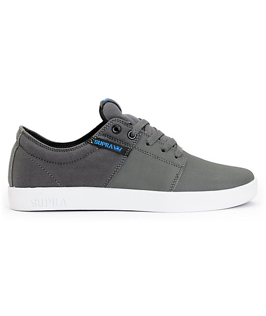 Supra TK Stacks Charcoal & White Express TUF Skate Shoes