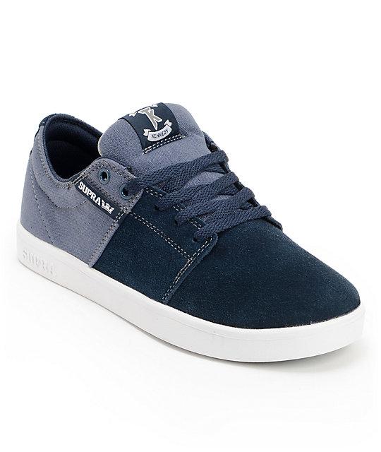 Supra TK Stacks Navy & White Skate Shoes