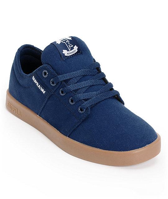 Supra TK Stacks Navy Canvas Gum Supra Skate Shoes