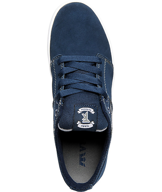 Supra TK Stacks Navy Suede & Canvas Shoes