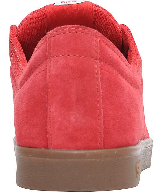 Supra TK Stacks Red Suede & Gum Shoes