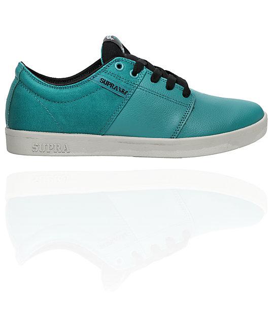 supra tk stacks teal suede canvas shoes
