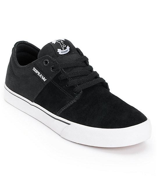 Supra TK Stacks Vulc Black & White Canvas Supra Skate Shoes