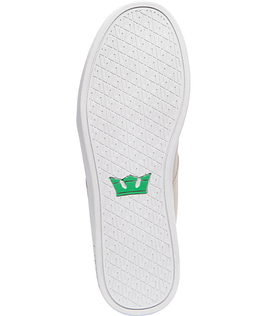 Supra TK Stacks White Suede & Canvas Shoes